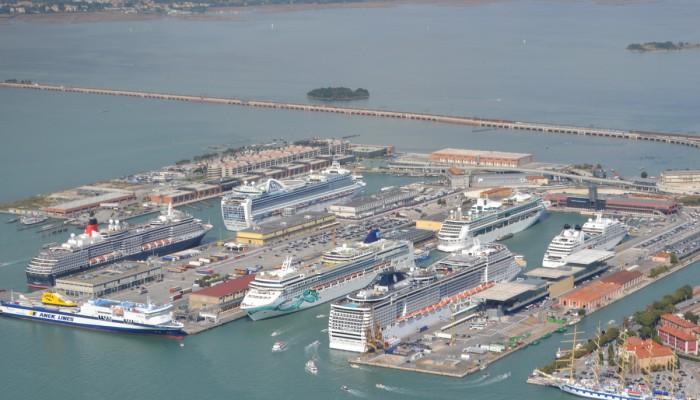 Foto Aerea Stazione Marittima Porto Venezia